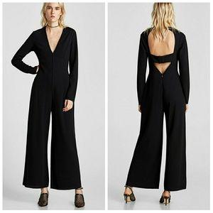 Zara Low Cut Back Ultra Chic Pant Jumpsuit